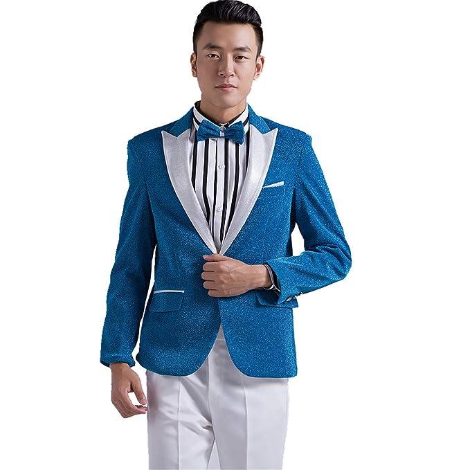Amazon.com: MYS Men coreano del estilo Bling Arena Party ...