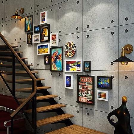 WUXK Escalera Americana Foto decoración de Las Paredes, el Restaurante Paredes Retro Creativa combinación de Bastidor de Pared Pared 5.: Amazon.es: Hogar