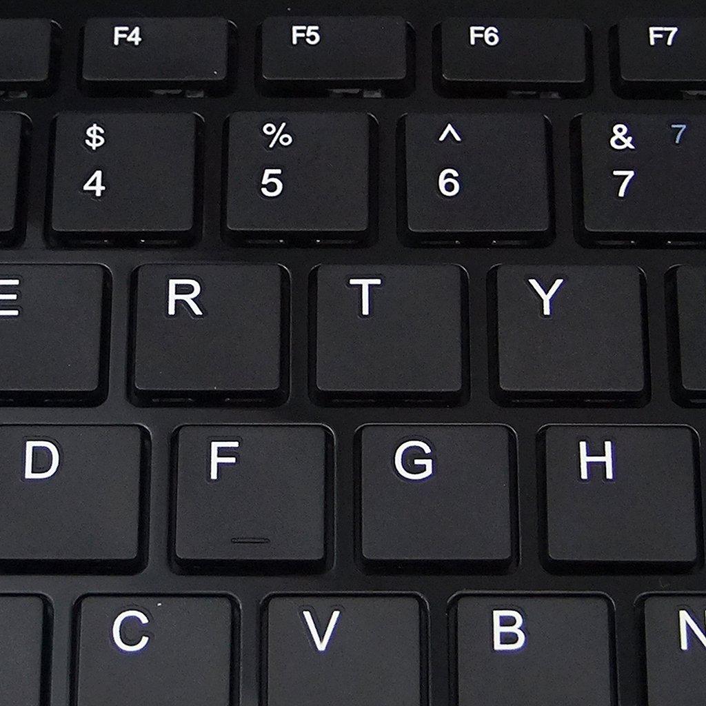 Meiego Super Slim USB 2.0 Mini Keyboard 78 Key Black Small Compact Thin Laptop PC Keybord for Windows 7 XP Vista