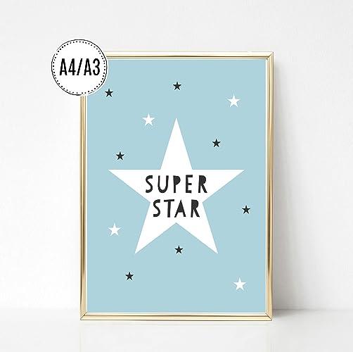 Kinderposter Kinderzimmerbild Mit Spruch Super Star Und