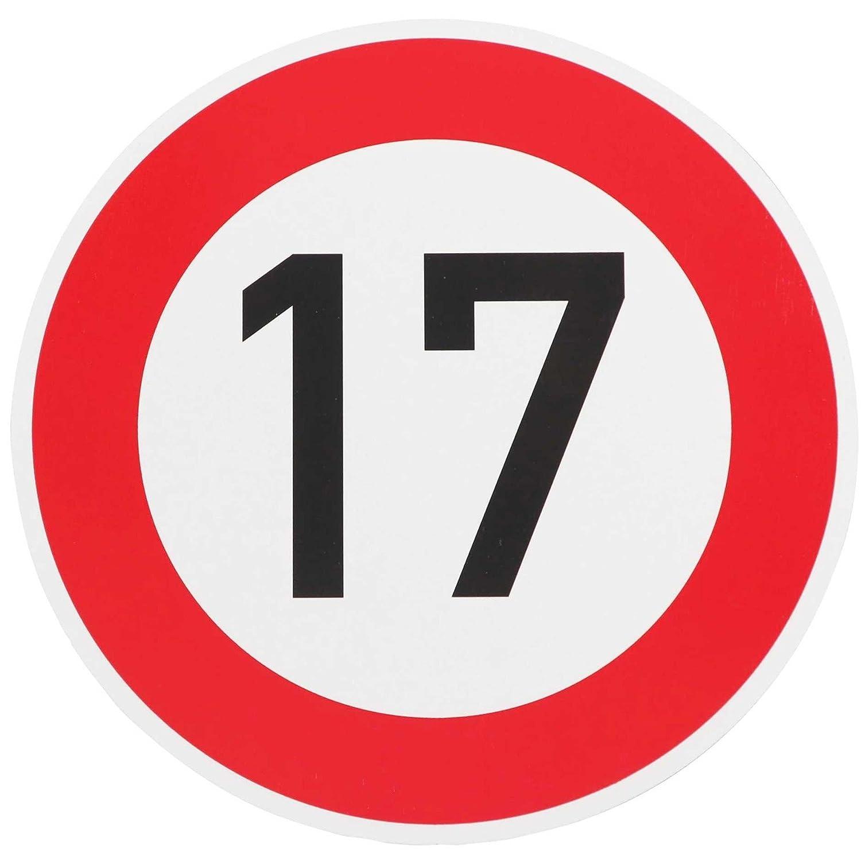 Especial text) señal cumpleaños o permiso de conducir por carretera con 17 Placa Escudo: Amazon.es: Hogar
