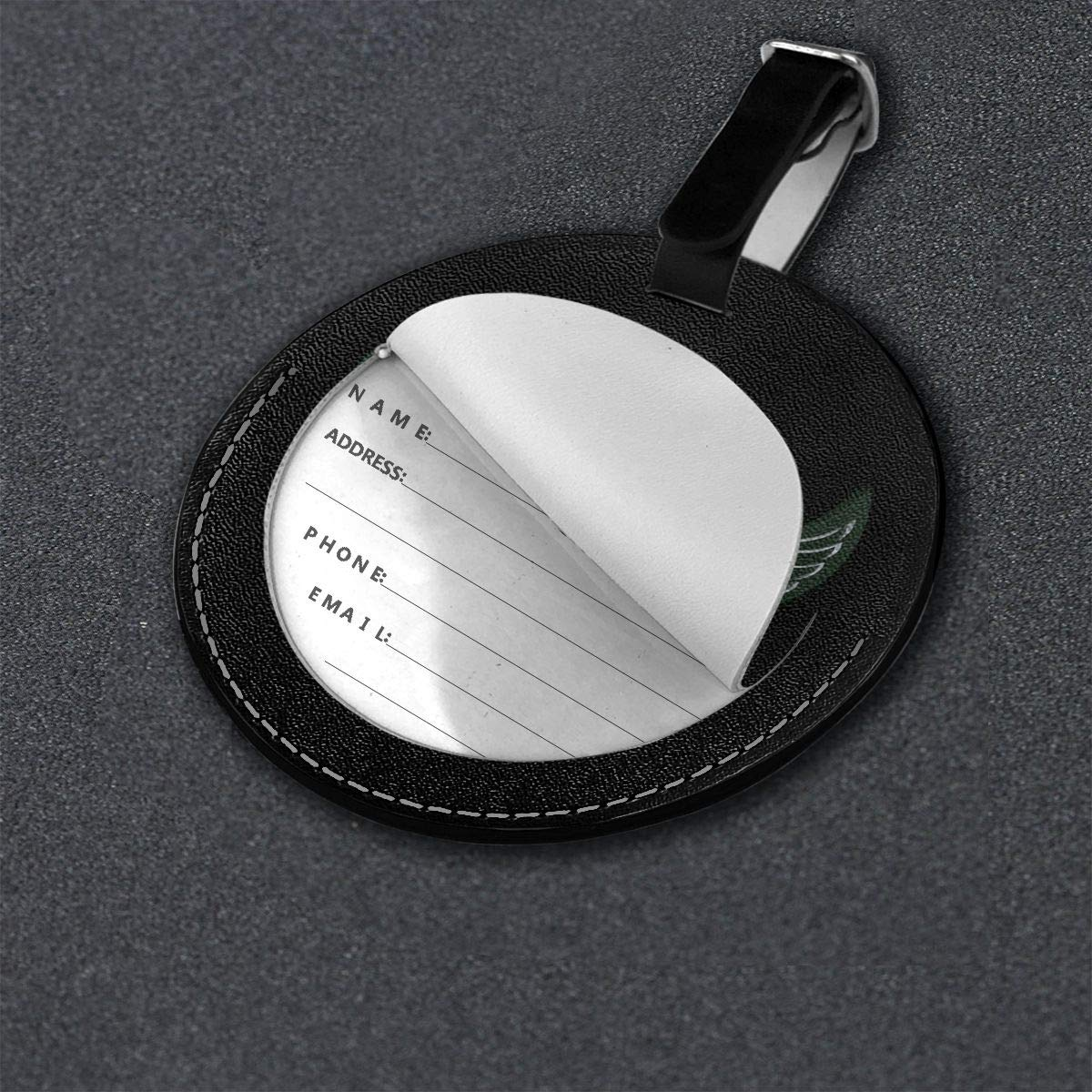 Volbeat Travel Leather Round Luggage Tags Suitcase Labels Bag