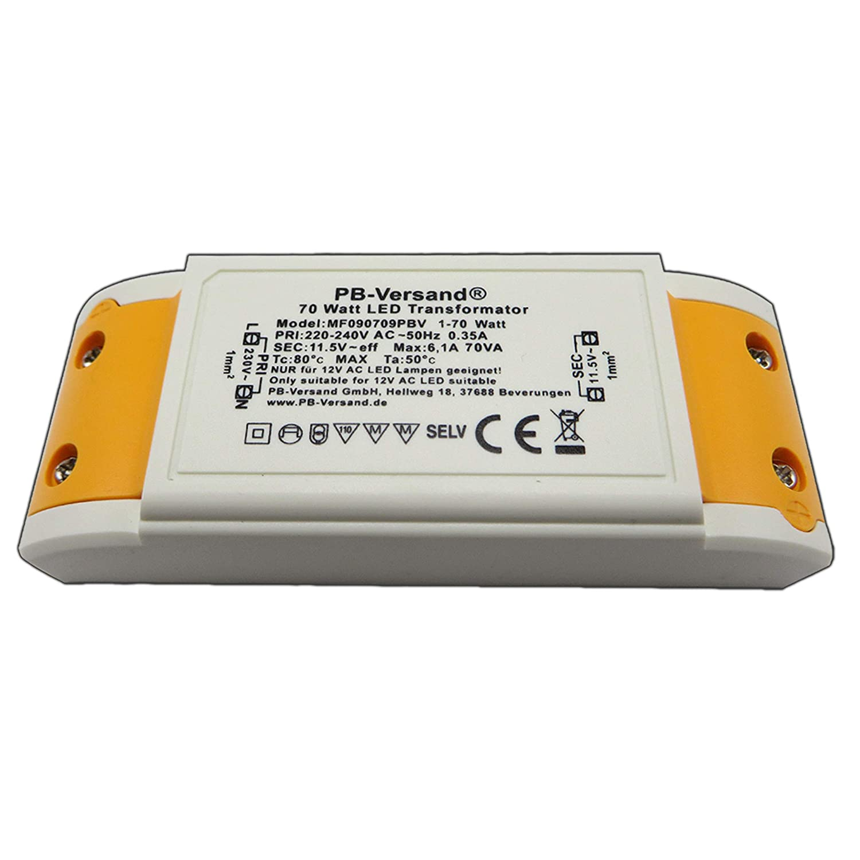 Mini LED Leuchtmittel Trafo 1-70 Watt 12V~ AC Transformator ...