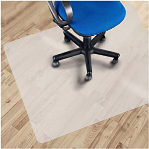 """Office Marshal PVC Chair Mat for Hard Floors - 48"""" x 52"""" 