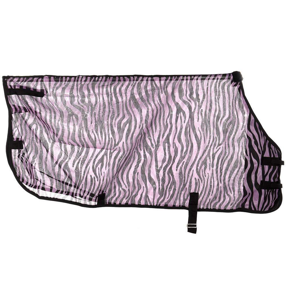 Tough-1 Zebra Mesh Fly Sheet 75 Purple Zebra