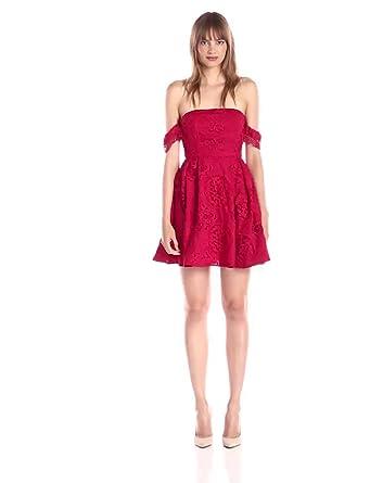 6f665f09f229 Amazon.com  StyleStalker Women s Perini Off Shoulder Lace Flare ...