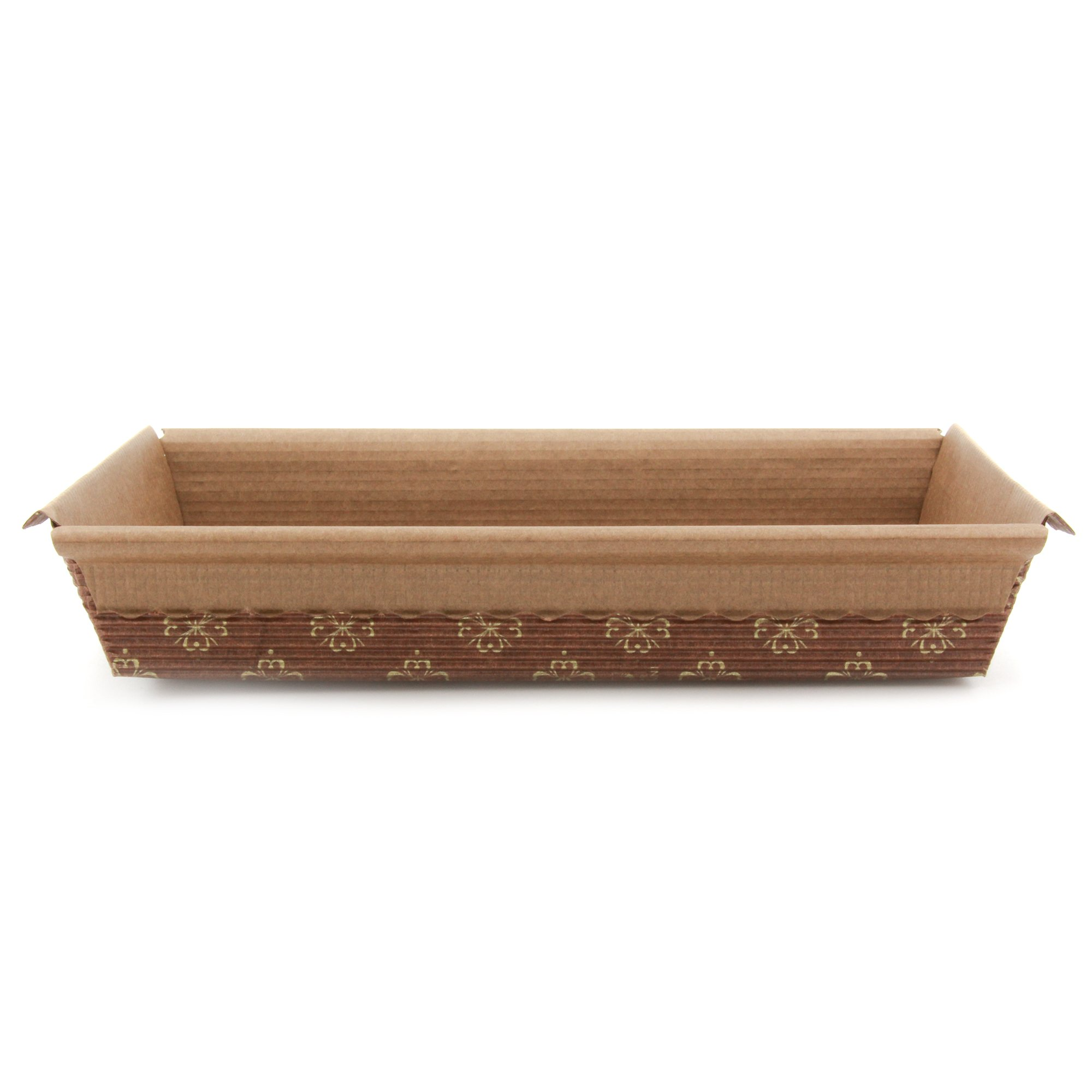 Paper Baking Pan Good For Anything You Wish To Bake In A Rectanglar Pans , Carrot Cake, Brownies 516836 L6-1/2''x w4-1/4''x 1-1/4''H (540) by Ecobake (Image #2)