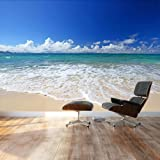Environmental graphics giant world map wall mural dry erase wall26 large wall mural gorgeous beach and clear sea in summertime self gumiabroncs Images