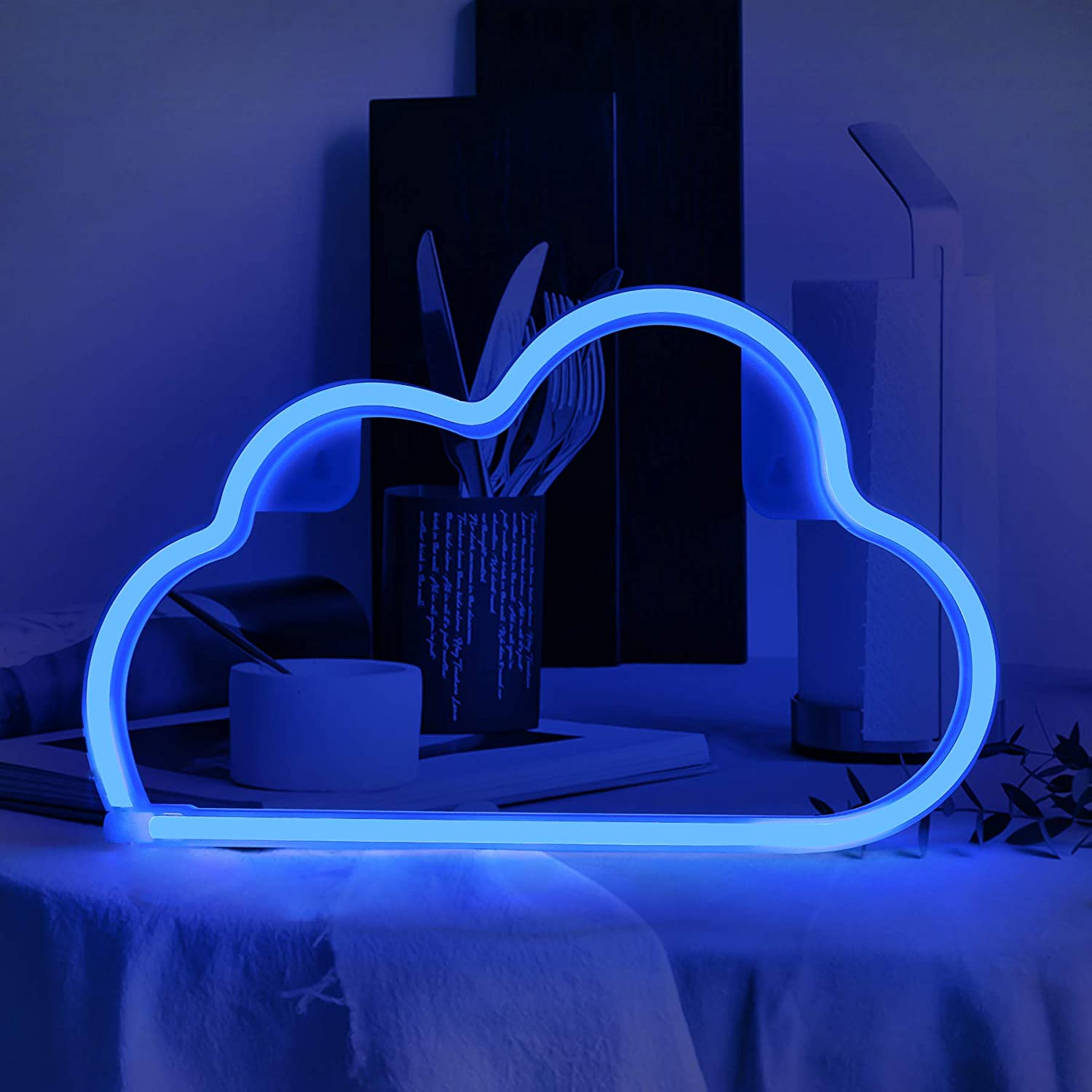 Neon Signs LED Sign, Cloud Neon Sign for Wall Decor Room Bar Christmas Halloween Wedding Party Blue Cloud Light