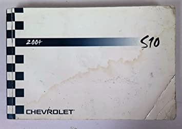 amazon com 2004 chevy chevrolet s10 owners manual guide book rh amazon com