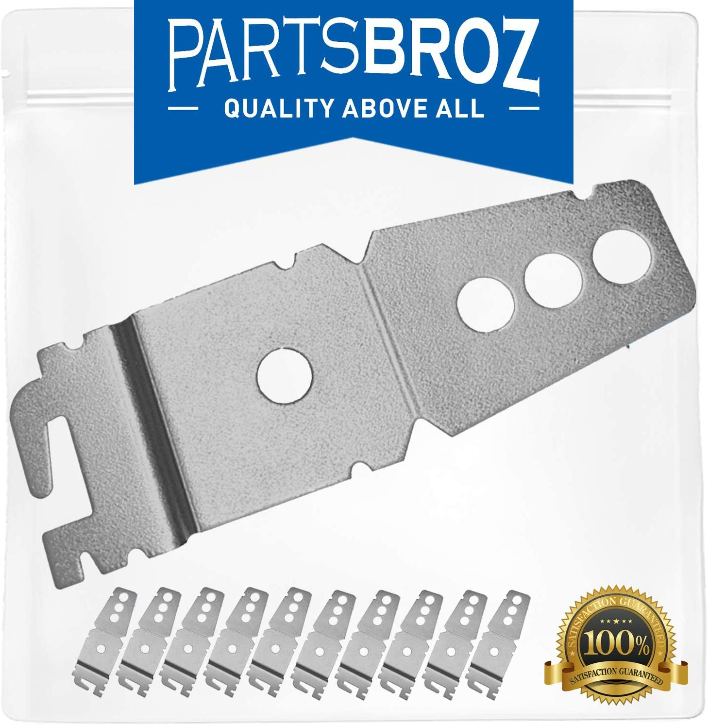 8269145 Mounting Bracket (10-Pack) by PartsBroz - Compatible with Whirlpool Dishwashers - Replaces AP6012289, WP8269145, 8269145, PS11745496, WP8269145VP