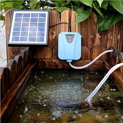 ksjdjok 2L / Min Silencioso Solar Powered Oxigenador de Agua ...