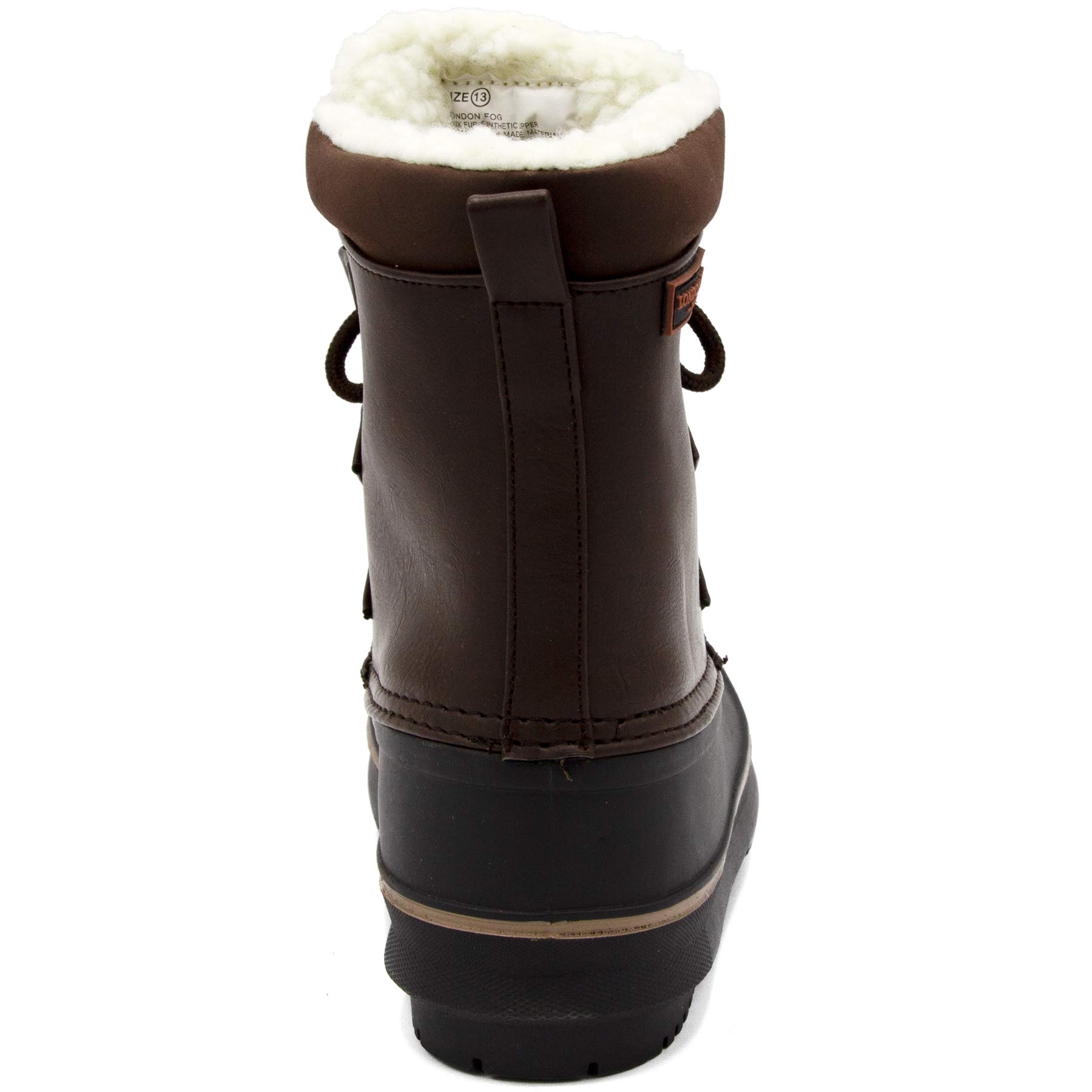 London Fog Boys Cheshire Cold Weather Snow Boot Brown 4 by London Fog (Image #3)