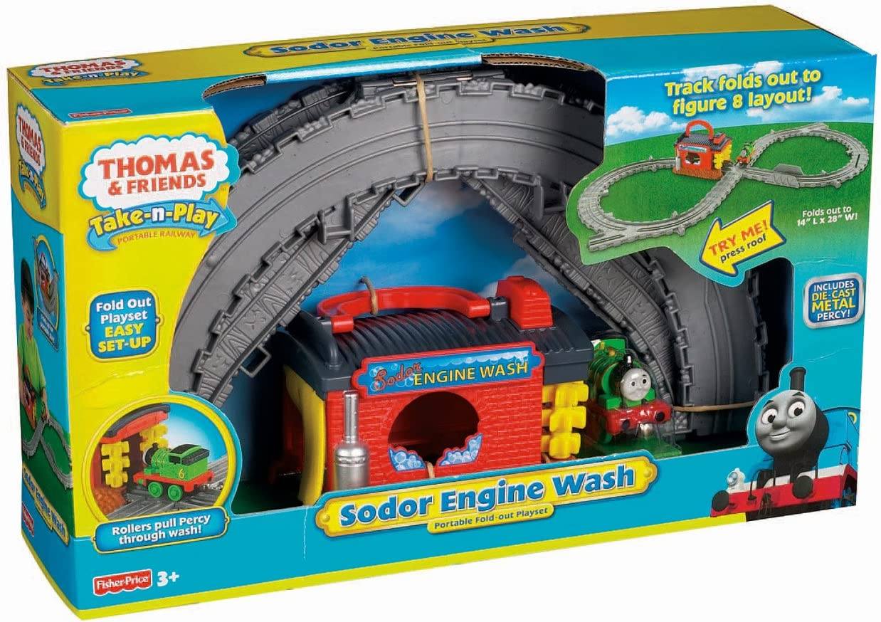 Fisher Price Thomas /& Friends Take N Play Sodor Engine Wash NEW