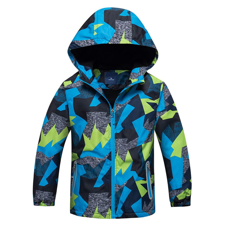 Spring Autumn Boys Windbreaker Jackets Polar Coats Kids Outerwear Sport Hoodie