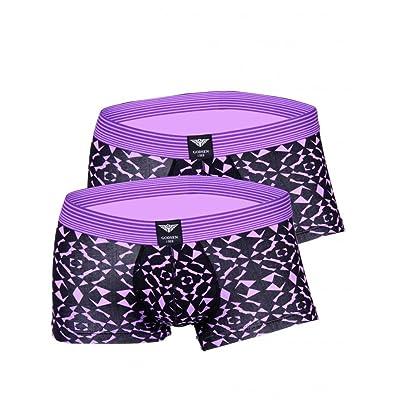 Godsen Men's Cotton Comfortable 2 Pack Underwear Brief Shawn Fresh and Bright Trunk: Clothing