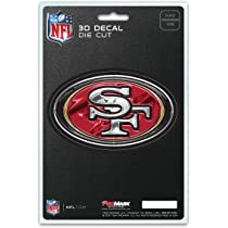Rico San Francisco 49ers 3.75 x 3.5 Car Cling