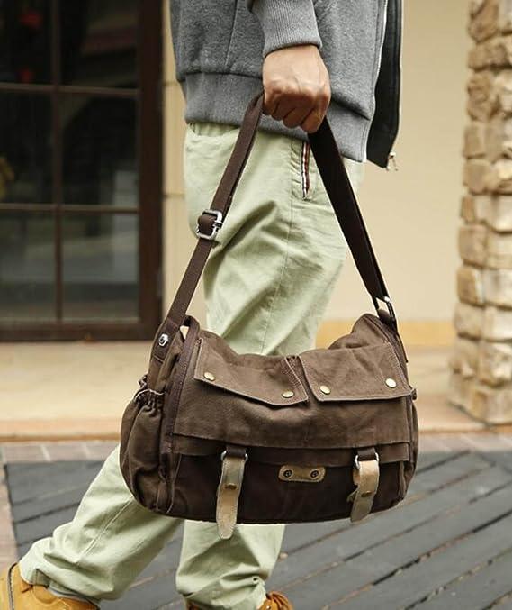 ... Mailman MYLL Retro Unisex Bolso Ocasional Hombro Messenger Bag,Brown-XL  Amazon.es ... 1f400c2760
