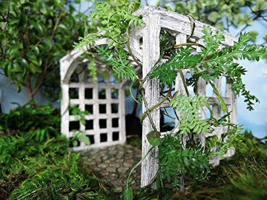 Miniatura Jardín de hadas Cobblestone Pergola: Amazon.es: Jardín