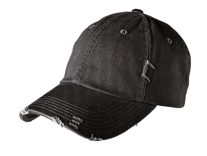 f11e5bc4851561 District Men's Distressed Cap OSFA Black at Amazon Men's Clothing store: