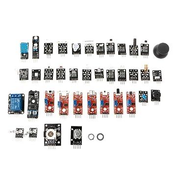 jenor 37 en 1 Sensor Módulo de Kit para Raspberry Pi Arduino MCU Carcasa de 3D de impresión Notebook: Amazon.es: Informática