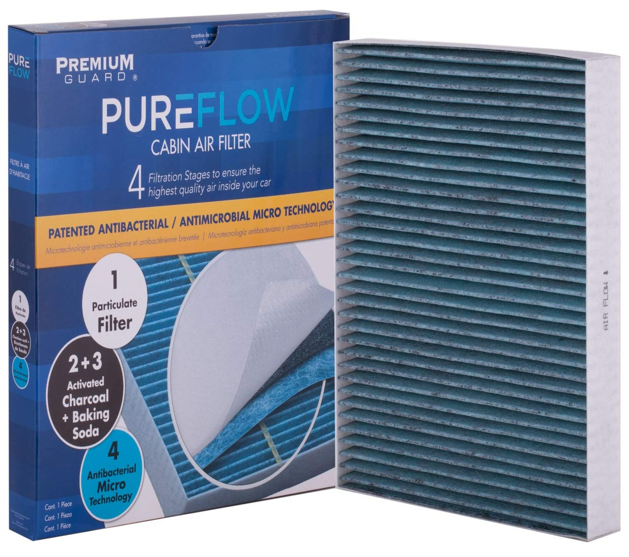 PureFlow Cabin Air Filter PC6176X   Fits 2011-18 Chrysler 300, 2010-18 Dodge Challenger, 2011-18 Charger by Premium Guard