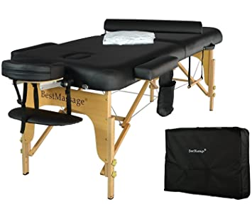2.5u0026quot; Massage Table Portable Facial SPA Bed W/Sheet+Cradle Cover+Bolster