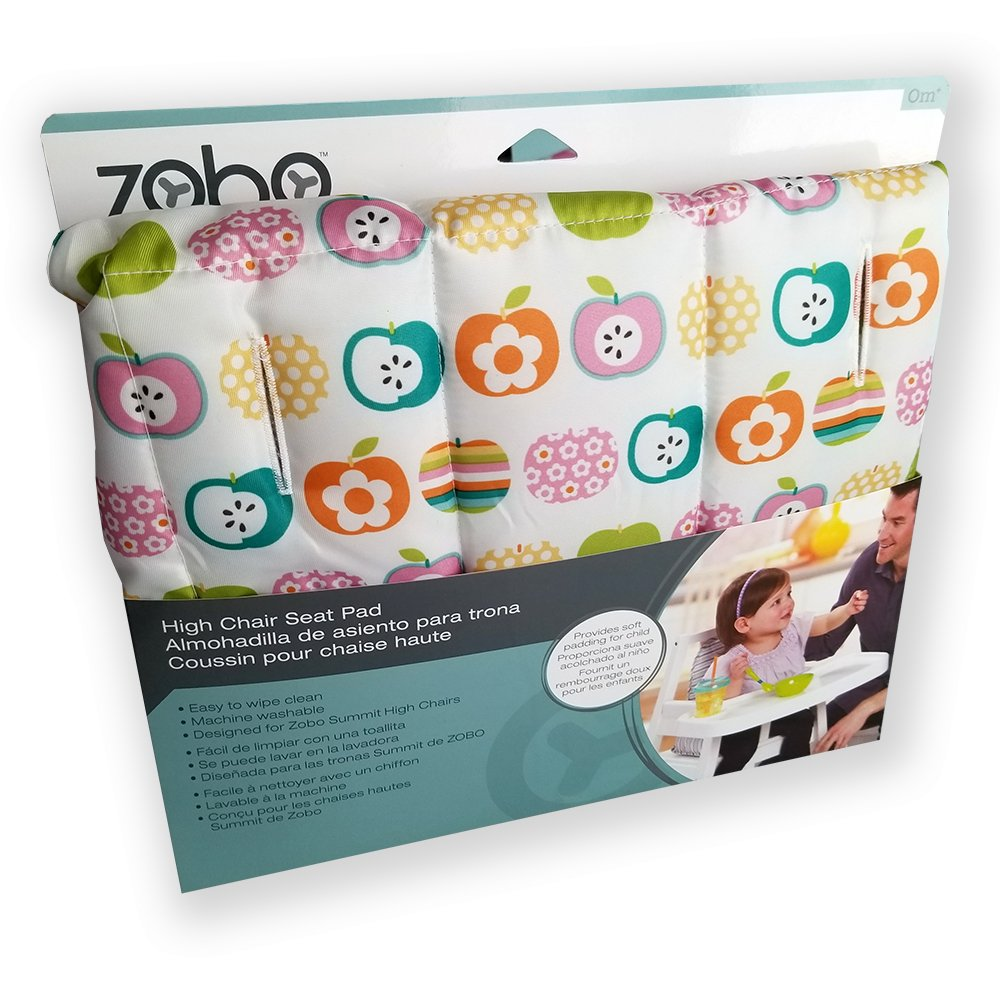 Zobo High Chair Seat Pad for Summit High Chairs (Apples)