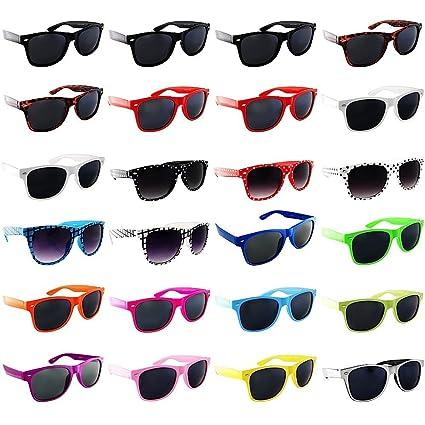 be8328600d0 Amazon.com  Browcho Lot of 24 Nerd Glasses- Buddy Holly Retro Dark ...