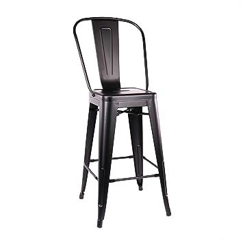 Magnificent Amazon Com Design Lab Mn Ls 9102 Mtblkhb Dreux Matte Black Andrewgaddart Wooden Chair Designs For Living Room Andrewgaddartcom