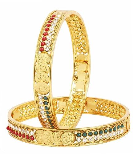 Indian Bollywood Gold Plated Bracelets//Kada Lakshmi Ginni Coin Fashion Bangles