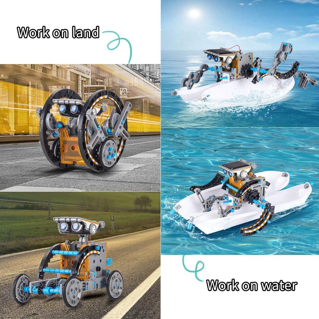 Yeelan Juguete Robot Solar Juguetes de Construcci/ón Educativa 12-en-1 DIY Science Experiment Kit 190 Piezas Coding Robots Engineering Set Powered by The Sun para Ni/ños y Ni/ñas de 10 A/ños en Adelante