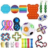 Sensoriska leksaksset, Sensorisk Fidget-leksaksuppsättning, 25 barns stressleksaker för vuxna, irriterad…