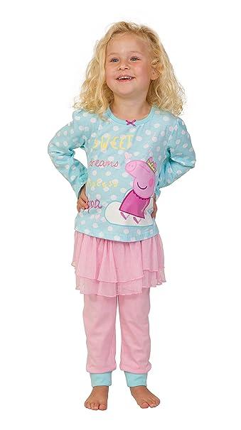 Peppa Pig - Pijama - para niña multicolor azul/rosa 2-3 Años