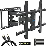 MOUNTUP TV Wall Mount, TV Mount Swivel and Tilt Full Motion for 42-70 Inch Flat Screen TVs, Universal Articulating Wall Mount