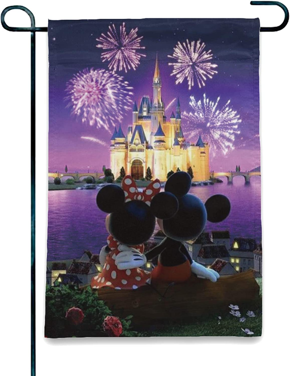 Stockdale Minnie Mickey Beautiful Fireworks Lawn Flag Christmas Courtyard Decoration for House