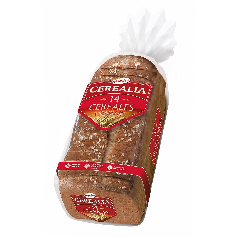 Panrico Cerealia 14 Cereales Pan de Molde con Cereales y Semillas ...