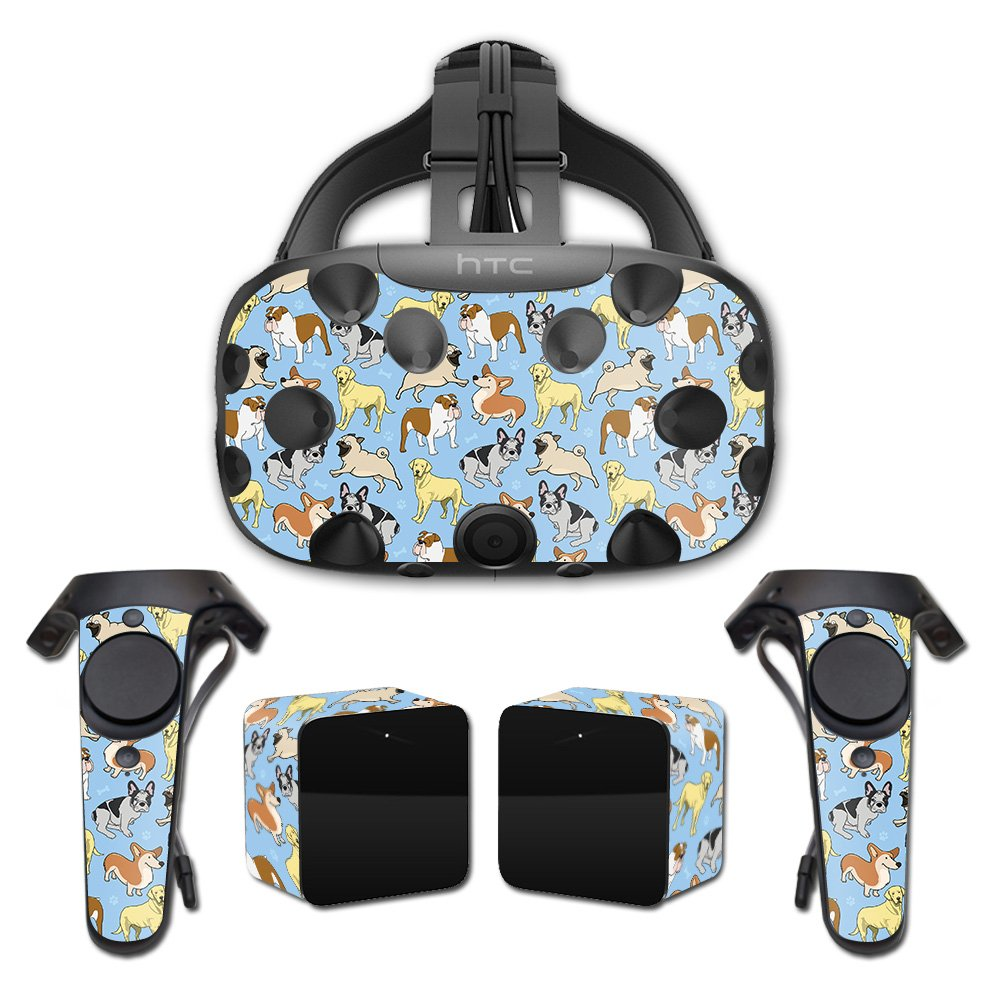 MightySkins Skin for HTC Vive Full Coverage - Puppy Party   Protective, Durable, and Unique Vinyl Decal wrap Cover   Easy to Apply, Remove, and Change Styles   Made in The USA