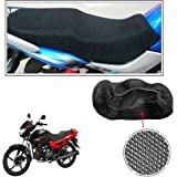 Vheelocityin No Heat Net Seat Cover Motorcycle / Bike/ Scooty Seat Cover For Hero Motocorp Glamour Programmed Fi