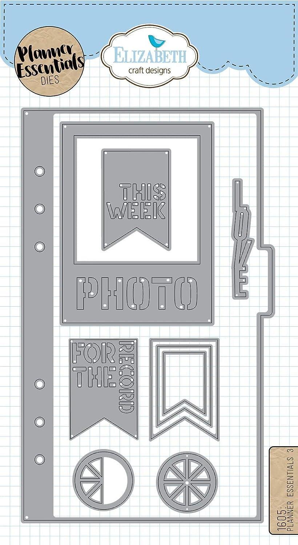 Elizabeth Craft Designs Elizabeth Craft Metal Die-Planner Essentials 3, Silver