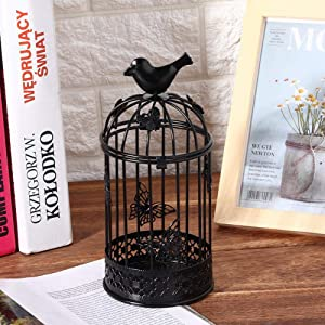 Retro Cage Candle Holder, Hollow Candle Holder, 2310cm Suitable for Coffee Tables, Restaurants, Coffee Shops, Bars, Hotels, SPA Health Clubs, Exhibition Halls, Courtyards