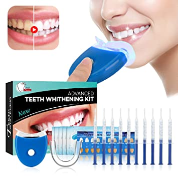 Teeth Whitening Kit - Blanqueamiento, 10 x Teeth Whitening 2 x Dental Trays Gel Kit