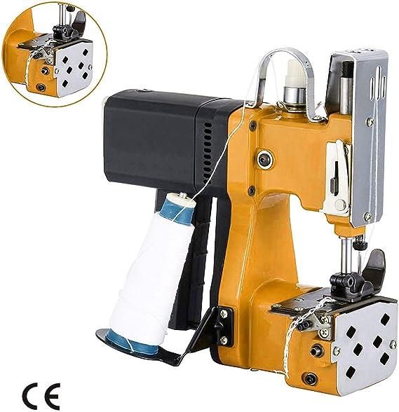 4YANG Máquina de coser portátil Máquina de coser más cerca Saco eléctrico seco Costuras Sellado para bolsa de plástico de papel de arroz saco de piel de serpiente tejida (220 V): Amazon.es: