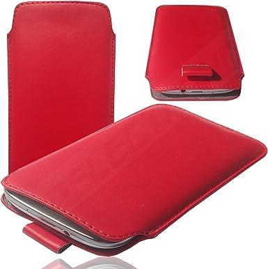 HQ Rojo Slim Cover Case Carcasa PULL Up Funda Smartphone Funda ...