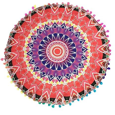 Xinantime Funda Cojines,Xinan Almohada de Bohemia Ronda Fundas India Mandala (Rojo)