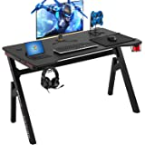 Computer Desk Gaming Desk 47.2 inches Student PC Desk Writing Desk Ofiice Desk Extra Large Modern Ergonomic Racing Style…