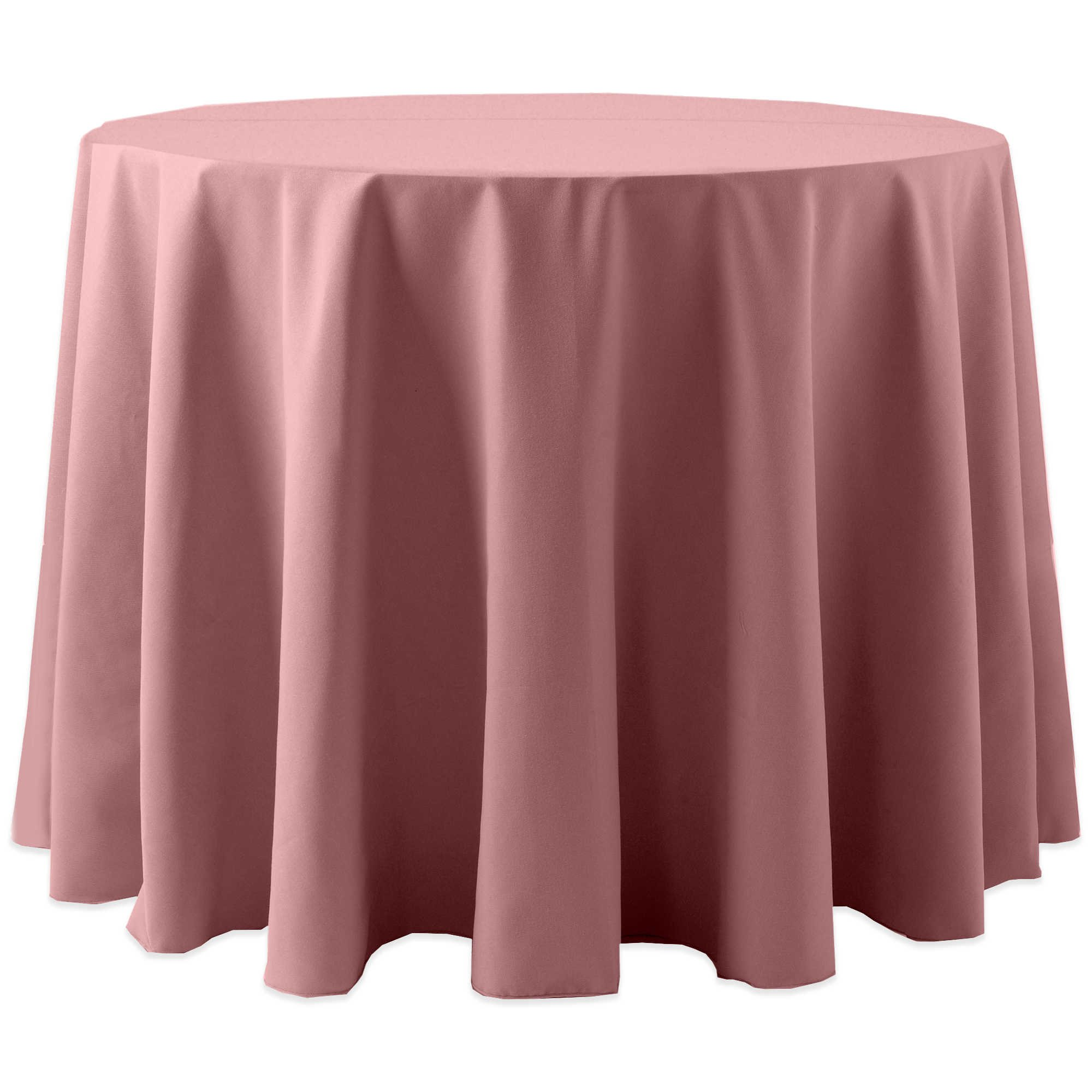 Ultimate Textile (5 Pack) Cotton-feel Spun Polyester 90-Inch Round Tablecloth - for Wedding and Banquet, Hotel or Home Fine Dining use, Dusty Rose Light Pink