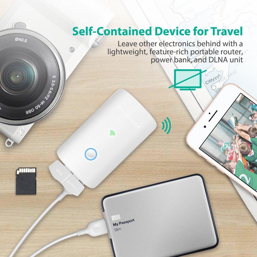 Wireless Travel Router SD Card Reader USB Portable Hard Drive Media Streamer New