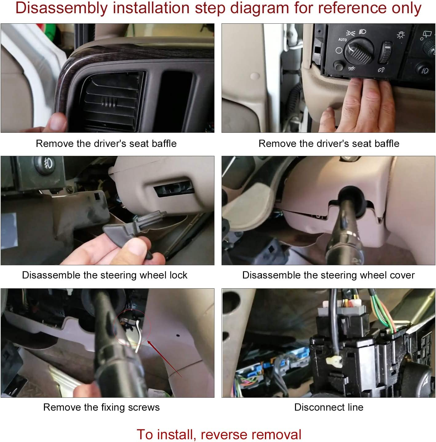 SPEEDWOW Turn Signal Wiper Windshield Dimmer Combination Headlight Lever Cruise Control Switch for Buick Rainier Cadillac Escalade Chevrolet GMC Hummer Isuzu Oldsmobile 12450067