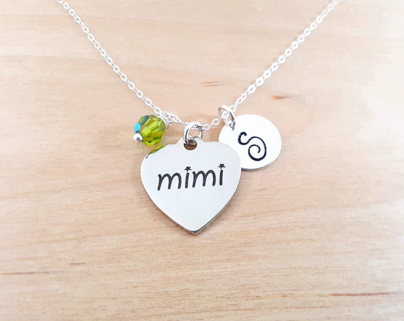 Amazon Com Mimi Necklace Grandmother Necklace Personalized